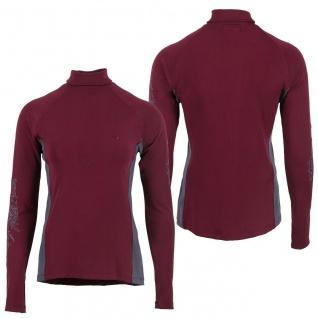 QHP Damen Sport Shirt Anniek langarm mit Rollkragen Blumenprint auf den Ärmeln