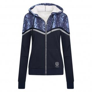 Imperial Riding Damen Cardigan mit Kapuze IRH Let's Go Leopardenprint 2 Farben