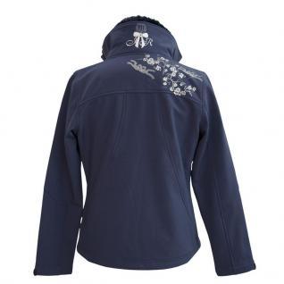 Imperial Riding Softshell-Jacke Make me pretty navy Pailletten Strass-Logo Gr 36