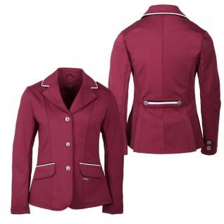 QHP Mädchen Turniersakko Turnierjacket Coco Junior Softshell Farbdet Strass red