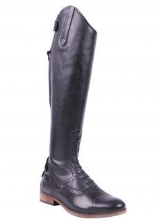 QHP Damen Luxus Leder-Reitstiefel Sophia weit schwarz Größe 36 - 42