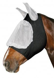 Harry's Horse Fliegenschutzmaske Fliegenschutz Kopf Lycra weiß/schwarz 4 Größen
