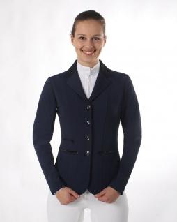 QHP Damen Turniersakko Turnierjacket Juliet Stretchgewebe Glitzerbandstreifen - Vorschau 3