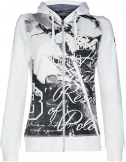 HV Polo Damen Sweat Jacke Cardigan Lindsey Kapuze Fotoprint mit Perlen