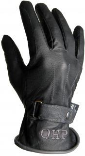 QHP Leder-Reithandschuhe Winterhandschuhe Nova Zembla mit Fleece schwarz/gs