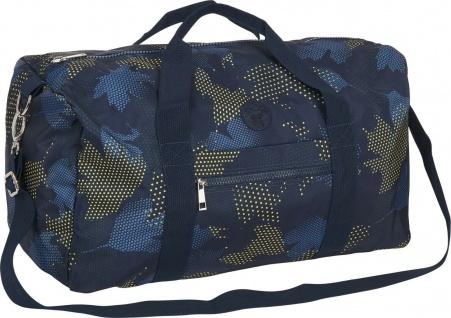 HV POLO Sporttasche Lea mit All-Over-Print Navy 48 x 26 x 26 cm