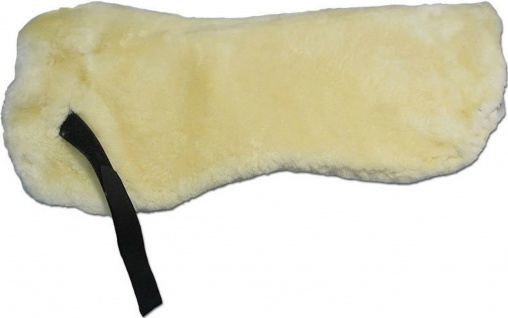 Sattelkissen Springkissen Lammfell beidseitig Wollhöhe 30 mm Länge ca. 57 cm