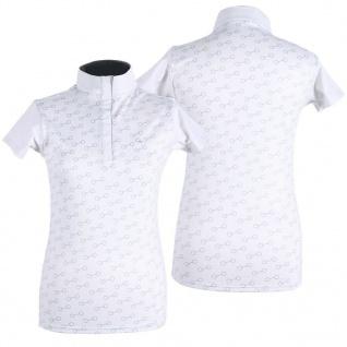 QHP Damen Turniershirt Emberly kurzarm Stehkragen Gebiss-Print