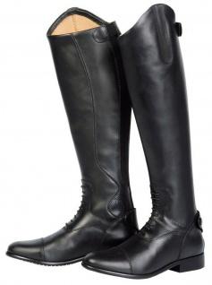 Harry's Horse Reitstiefel Donalelli Dressage XL Leder Schnürung Reißverschluss