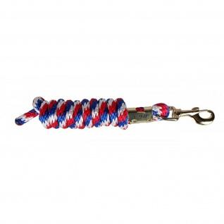 QHP Führstrick Anbindestrick durchflochten friesisch Länge 2 m Metall 2 Farben