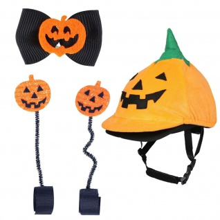 QHP Halloween-Set Pumpkin Outfit Kürbis 3-teilig f den ?Süßes oder Saures? Abend