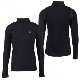 QHP Damen Thermo-Shirt Fianne langarm Stehkagen mit RV dekorative Prints