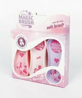 Magic Brush Bürstenset Allrounder für die Pferdepflege 3 Bürsten