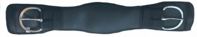 CeraTex anatomischer Westerngurt. Airprene. D-Ring - 100% Keramikfasern schwarz