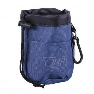 QHP Futter- und Belohnungsbeutel Nylon D-Ring. Karabiner. 2 Schlaufen für Gürtel