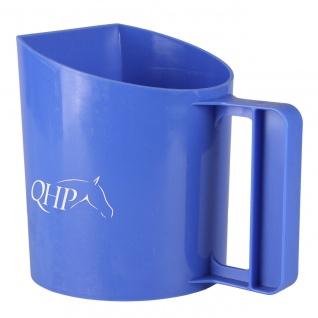 QHP Futterschaufel mit Henkel 1.0 Liter. eine flache Seite. 4 Farben
