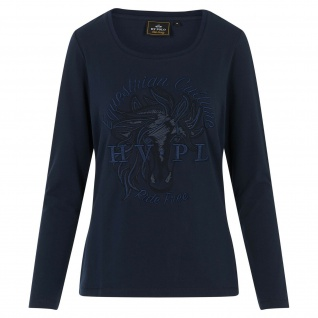 HV POLO Damen T-Shirt LA Terri langarm luxuriöses Pferde artwork auf der Brust