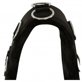 Premiere Longiergurt Artificial Fur mit Kunstfellfutter diverse D-Ringe 2 Größen - Vorschau 2