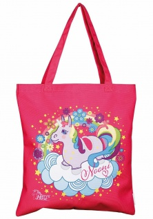Harry's Horse Tasche Nooni Canvas-Tasche pink mit Einhorn Print
