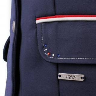 QHP Mädchen Turniersakko Turnierjacket Coco Junior Softshell Farbdet Strass navy - Vorschau 2