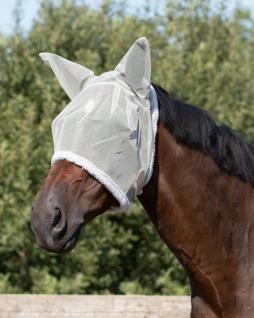 QHP Fliegenschutzmaske mit Ohren Fliegenschutz Kopf grau diverse Größen