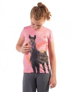 QHP Sportshirt Iris Junior süßes Mädchen-Shirt mit Pferdefotodruck Sommer 2021
