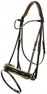 Imperial Riding Schwedische Trense Di Layla Lack-Leder black farbige Kristalle