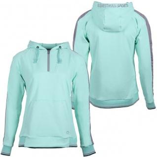 QHP Damen Sweater Hoodie Noleste mit Kapuze kurzer RV 2 Farben Sommer 2020