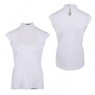 QHP Damen Turniershirt Leanor Stehkragen mit Ziernieten Flügelärmel - Vorschau 2