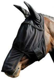 Harry's Horse Fliegenschutzmaske Gesichtsmaske mit Ohren und Nasenteil Pony