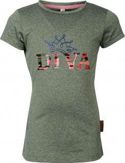 Harry's Horse Kinder Shirt Diva Camo glitzernder Diva-Print auf der Brust