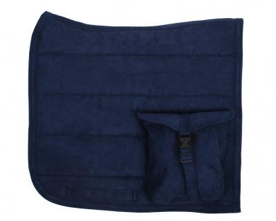QHP Sattelpad Puff Pad mit Tasche Suedine absorbierende Unterseite viele Farben