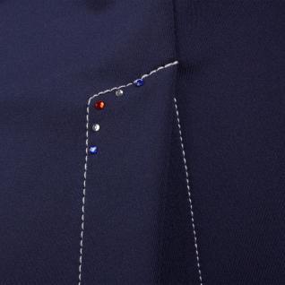 QHP Mädchen Turniersakko Turnierjacket Coco Junior Softshell Farbdet Strass navy - Vorschau 4