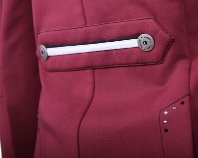 QHP Damen Turniersakko Turnierjacket Coco Adult Softshell Farbdetail Strass red - Vorschau 4