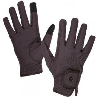 QHP Reithandschuhe Handschuhe Force spezielle rutschfeste Oberfläche Zügelverst.