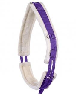 QHP Longiergurt Ontario Polyester mit weichem Kunstfellfutter zahlreiche Ringe - Vorschau 2