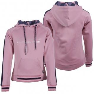 QHP Mädchen Sweater Hoodie Maia mit Kapuze 2 Farben silberner Print