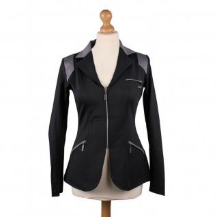 QHP Damen Turniersakko Turnierjacket Eve Adult Softshell graue Farbdetails black