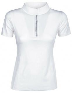 Harry's Horse Damen Turniershirt Valence weiss kurzarm Stehkragen Glitterdetails - Vorschau 1