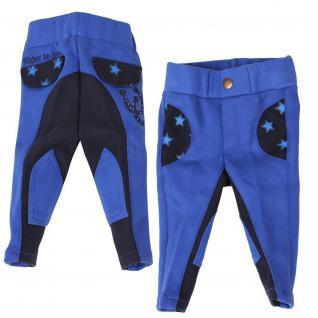QHP Baby Reithose Junior Mickey Kobaltblau Jodhpur-Hosenbein Kniebesatz