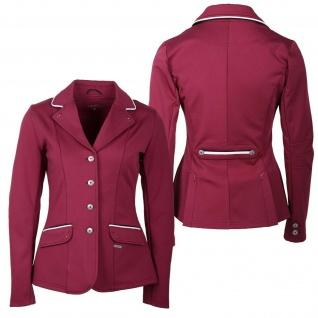 QHP Damen Turniersakko Turnierjacket Coco Adult Softshell Farbdetail Strass red