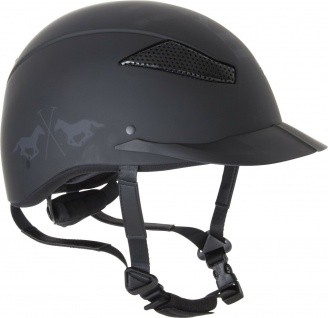 HV Polo Sicherheits-Reithelm Langley mat Black CE VG1 01 040 Coolmax