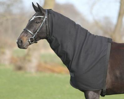QHP Halsteil Fleece mit Klettverschlüssen + Gurt mit Schnappverschluss 3 Größen