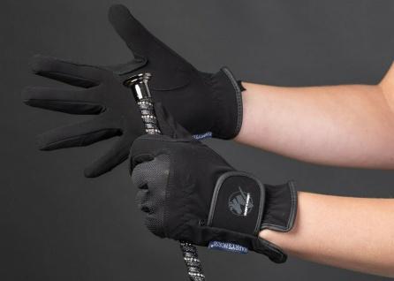 Harry's Horse Reithandschuhe Handschuhe Domy/Mesh Wildlederoptik elastisch 4 Fb.