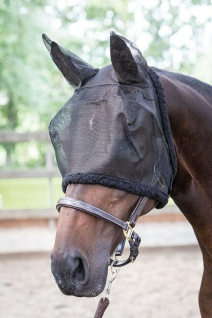 Harry's Horse Fliegenschutzmaske Gesichtsmaske mit Ohren mit Synthetic Fell