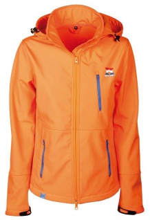 Harry's Horse Damen Softshell Jacke Dutch Orange Reitjacke abnehmbare Kapuze