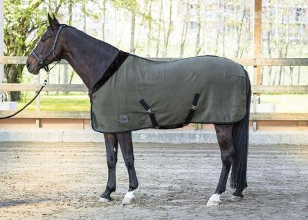 Harry's Horse Fleecedecke Greenwood mit umschlagbarem Kragen Kreuzgurte