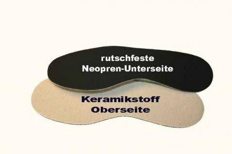 CeraTex Einlegesohlen schwarz-beige Neopren Keramikfaser Durchblutung div. Gr. - Vorschau 2