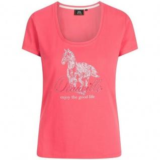 HV Polo Damen T-Shirt Madeleine luxuriöses Pferdedesign und Print vorne