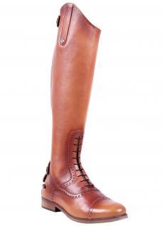 QHP Damen Luxus Leder-Reitstiefel Sophia normal cognac Größe 36 - 42